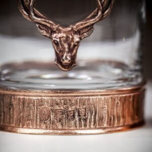 Majestic Stag Single Whisky Tumbler – Copper