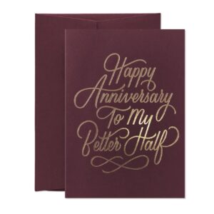 Happy Anniversary To My Better Half – card