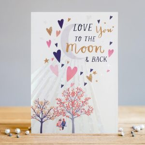 Love you to the moon – card