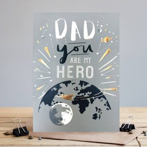 Dad hero – card