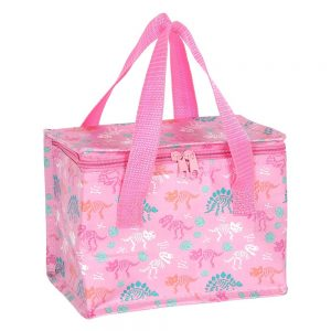 Dinosaur lunch bag pink – recycled plastic