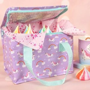 Insulated Unicorn packed lunch bag – recycled plastic