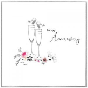 Happy Anniversary – luxury card (embellished)