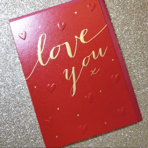 Love you – Valentines Day card – Sara Miller