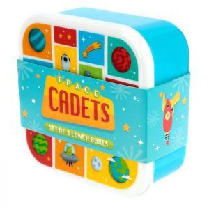 Set of 3 Lunch/snack Boxes – Space Cadets