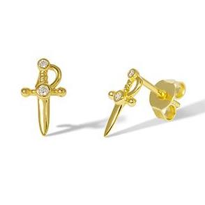 Little Dagger stud earrings – (gold plated)