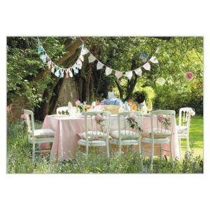 Greeting card – Bunting & Cottage Garden Party
