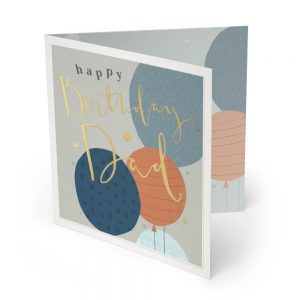Happy Birthday Dad Large Luxury Greeting Card