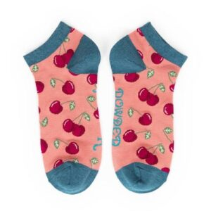 CHERRIES bamboo trainer socks
