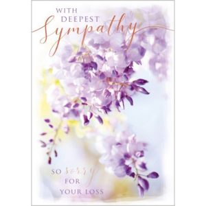 Greeting card – deepest sympathy flowers