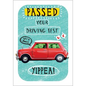 Greeting card – Driving test passed