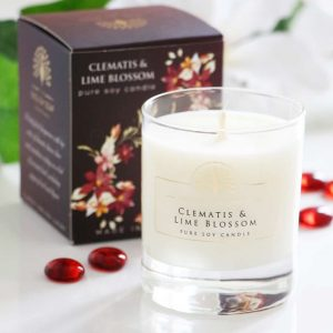 Clematis and Lime Blossom Soy Wax Candle