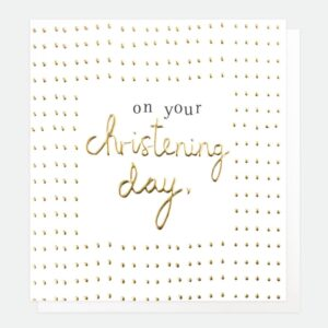 On Your Christening Day – gold card