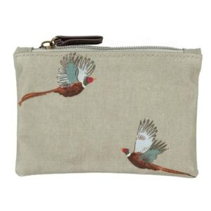 Sophie Allport pheasant oilcloth coin purse
