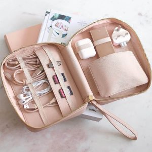 Stackers – Cable Tidy bag blush