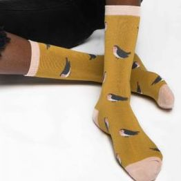 Robin – Ladies Bamboo socks (mustard)
