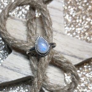 Moonstone Drop ring (size 8)