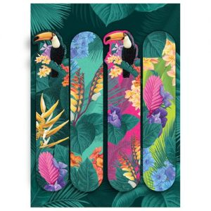 Toucan party set of 4 fun nail files