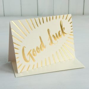 Good Luck – gold foil card