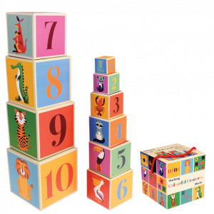 Colourful Creatures Stacking Blocks – Learn + Play