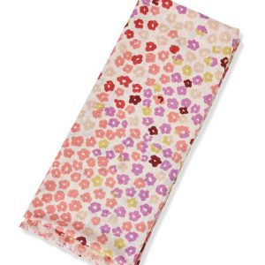 Cotton Floral scarf – PINK