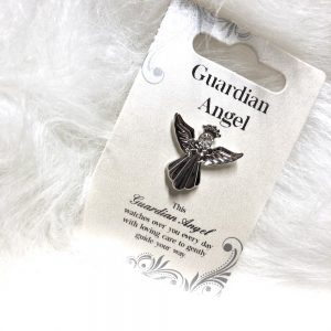 Guardian Angel crystal pin/brooch