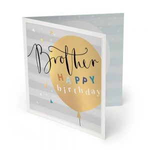 Brother Large Luxury Birthday Card