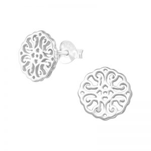Filigree stud earrings (sterling silver)