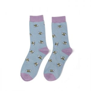 Bumble Bee – Ladies Bamboo socks (blue)