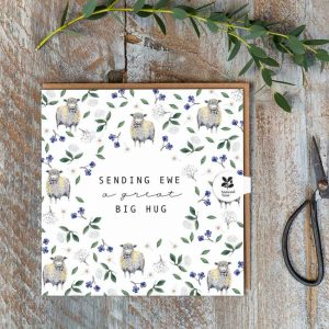 Sending Ewe A Great Big Hug – card