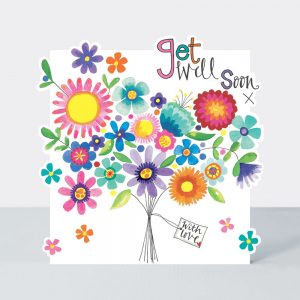 Get Well Soon – bright flowers – card