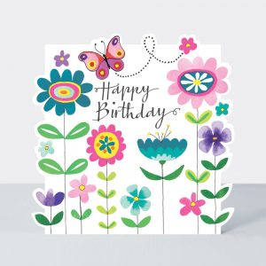 Happy Birthday – vibrant floral card