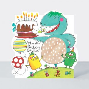 Monster Birthday Wishes – card