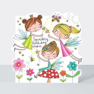 Sparkly Fairy Birthday Wishes card