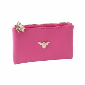 The Beekeeper Bee Coin Purse in Pink