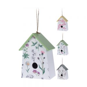 Wooden Birdhouse With Floral Design – 3 designs